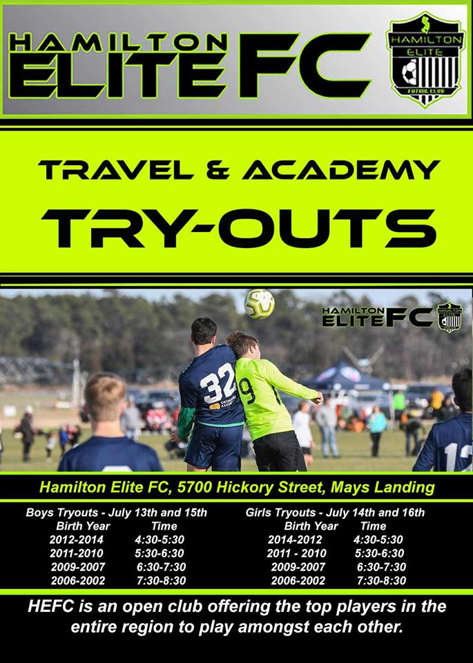 travel soccer tryouts